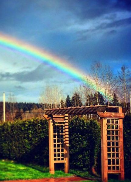 Rainbows End in our Maze!