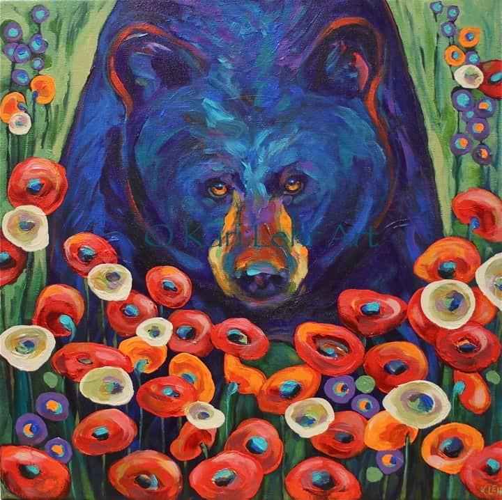 Garden Variety Black Bear by Kari Lehrart