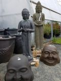 Laughing Buddha Heads & Statues